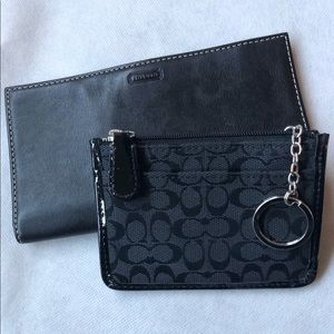 Coach key fob mini wallet